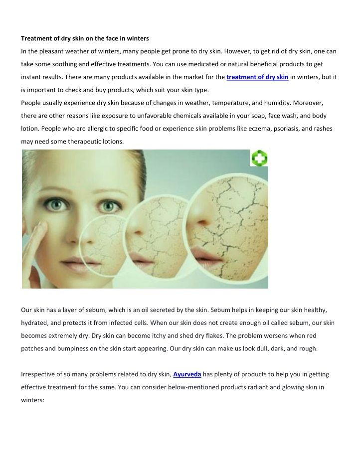 treatment of dry skin on the face in winters n.