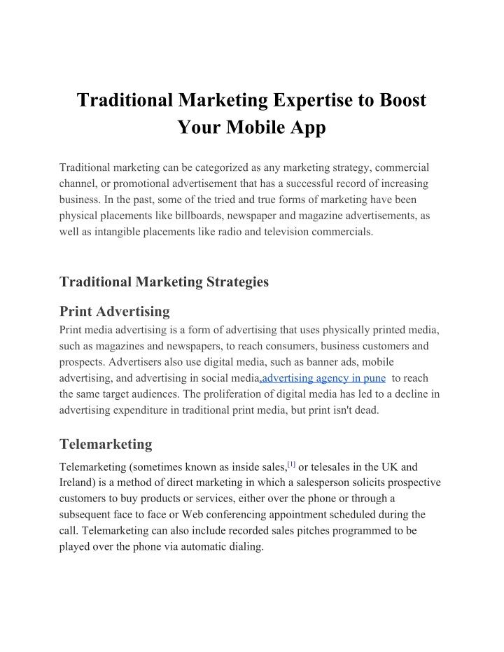 traditional marketing expertise to boost your n.