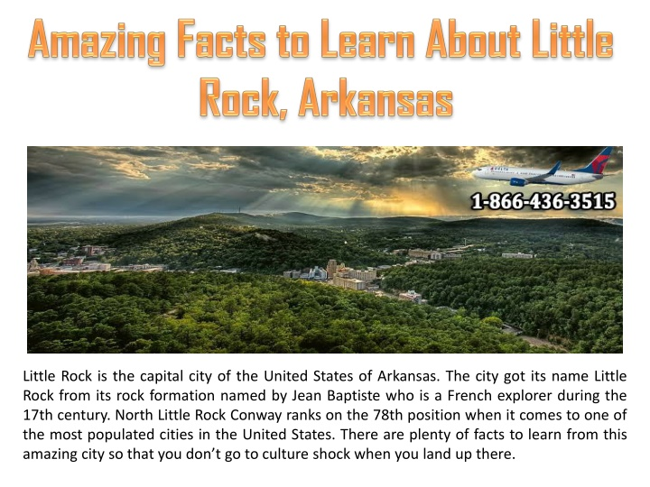 amazing facts to learn about little rock arkansas n.