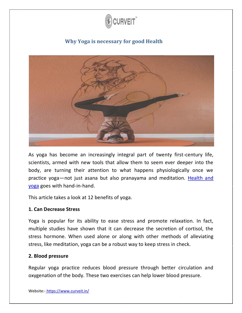 why yoga is necessary for good health l.