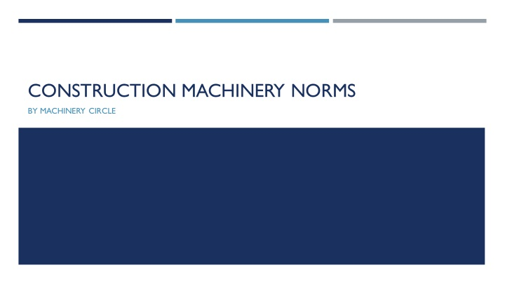 construction machinery norms n.