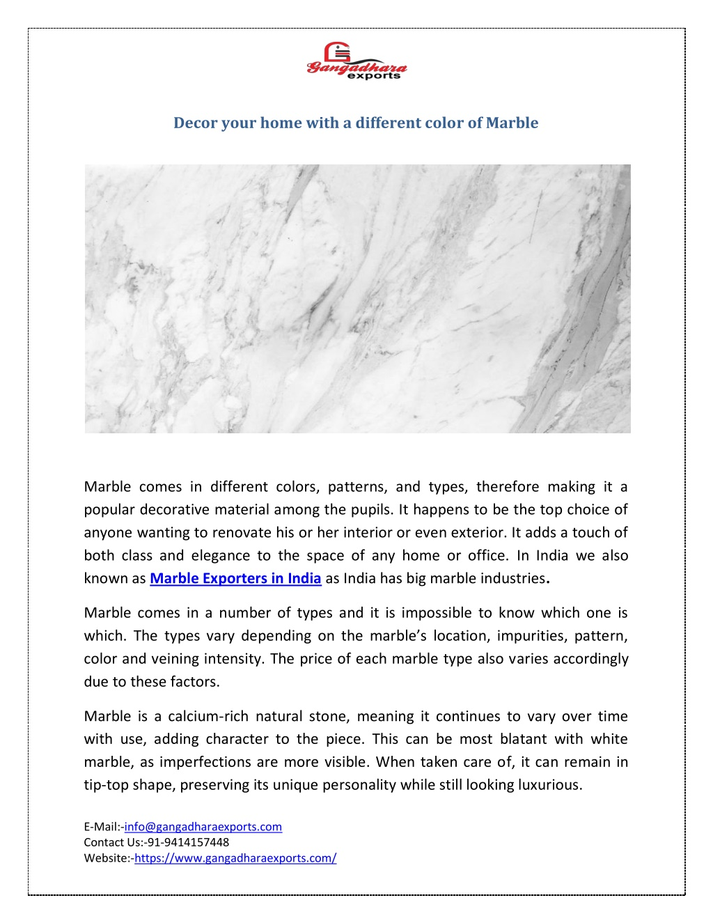decor your home with a different color of marble l.