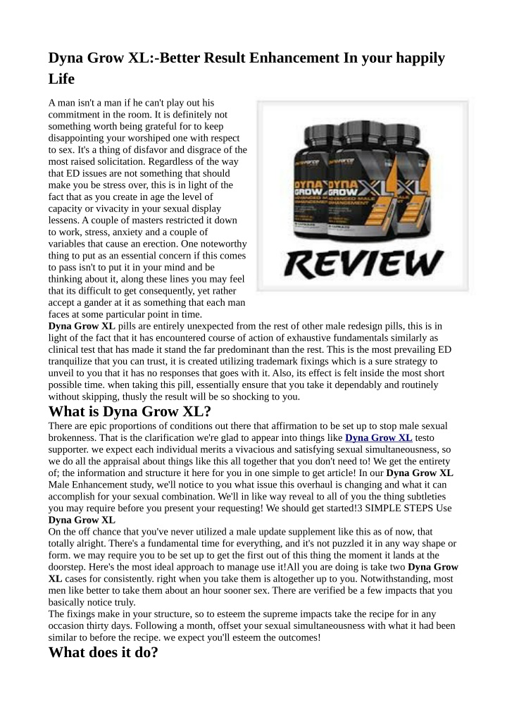 dyna grow xl better result enhancement in your n.