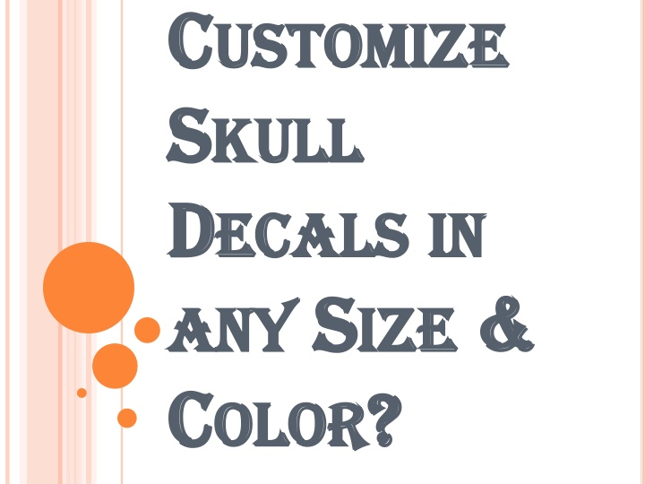 customize skull decals in any size color n.