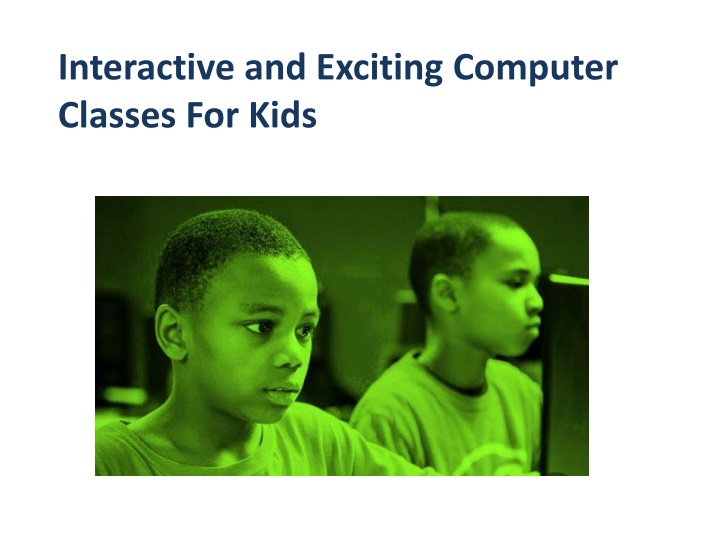 interactive and exciting computer classes for kids n.