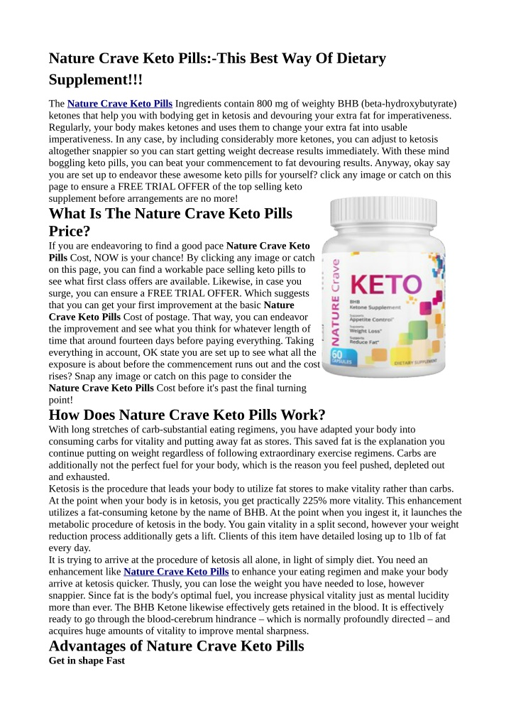 nature crave keto pills this best way of dietary n.