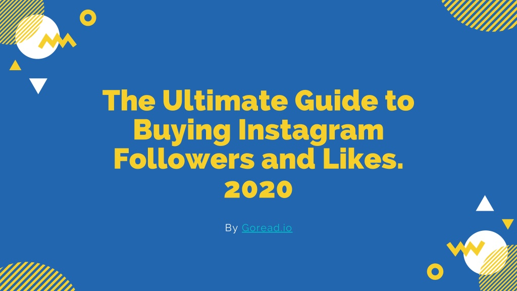 the ultimate guide to buying instagram followers l.
