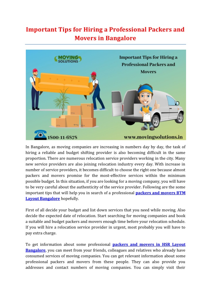 important tips for hiring a professional packers n.
