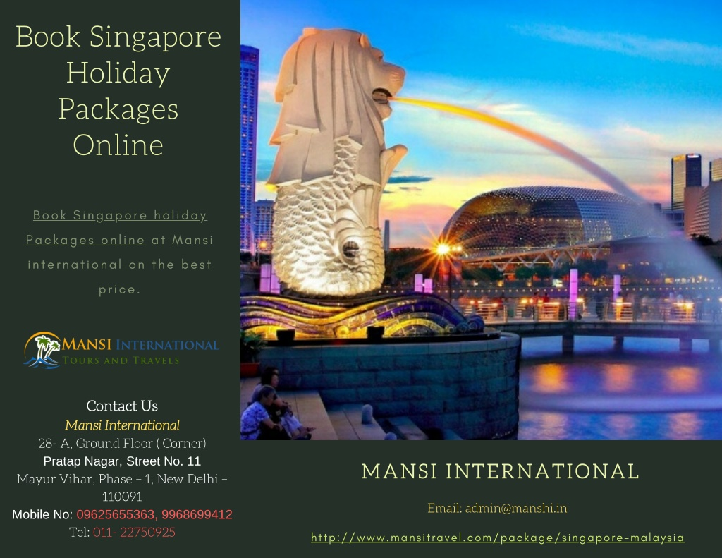 book singapore holiday packages online l.