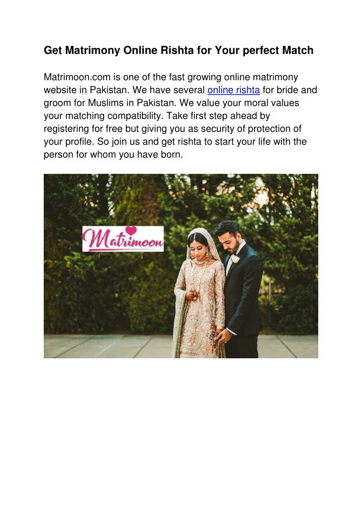 get matrimony online rishta for your perfect n.