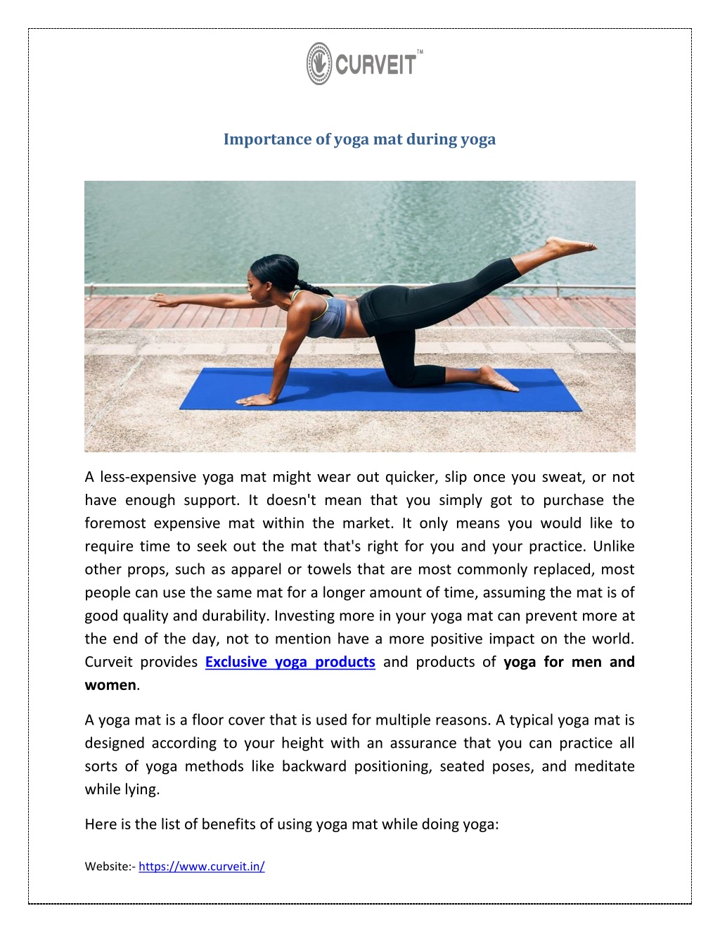 importance of yoga mat during yoga l.