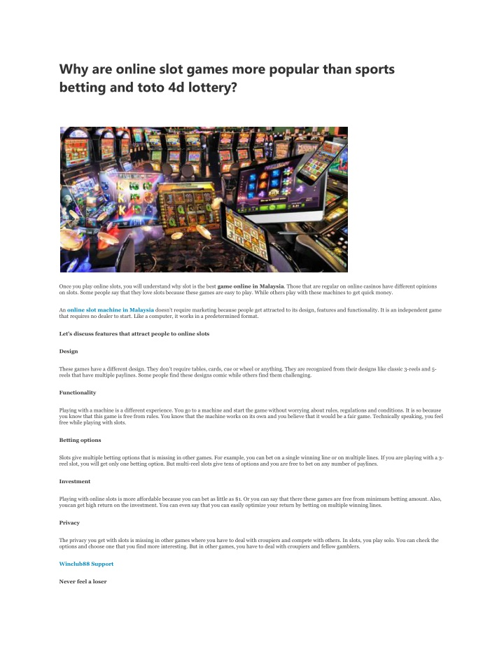 why are online slot games more popular than n.