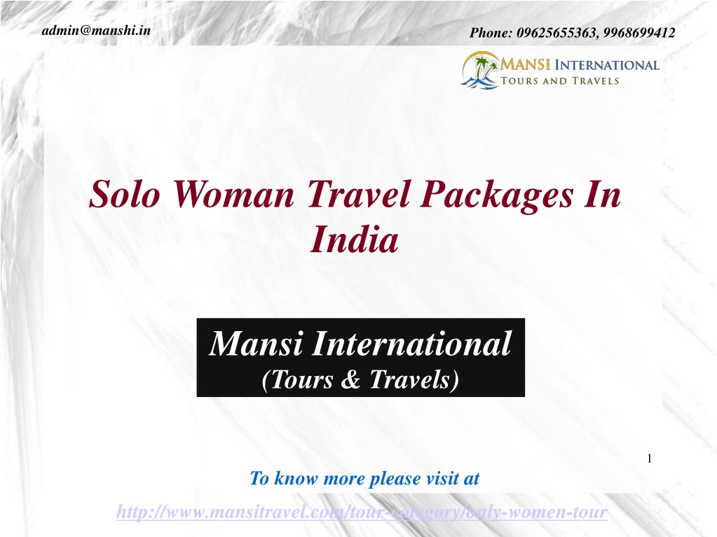 solo woman travel packages in india l.