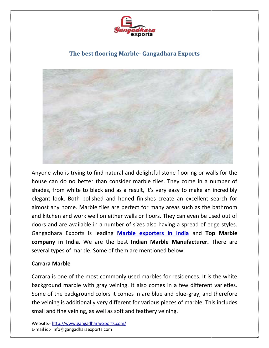 the best flooring marble gangadhara exports l.