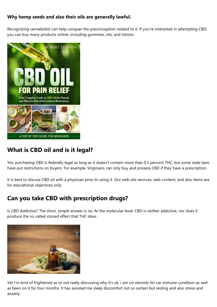 why hemp seeds and also their oils are generally n.