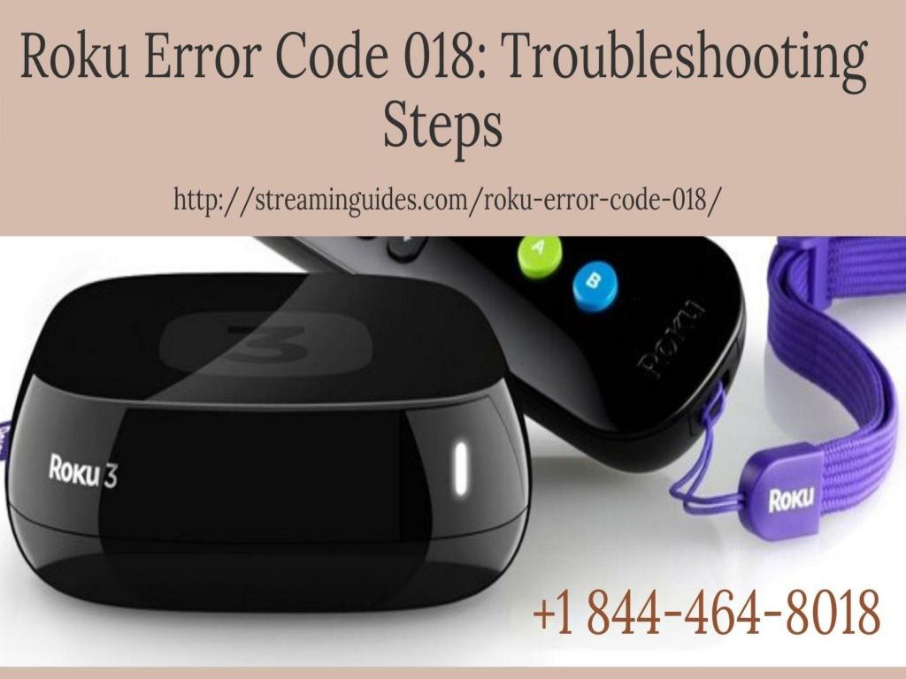 Roku Error Code 018 | Error Code 018 on Roku –Call Anytime