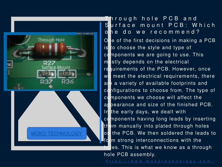 through hole pcb and surface mount pcb which one do we recommend n.