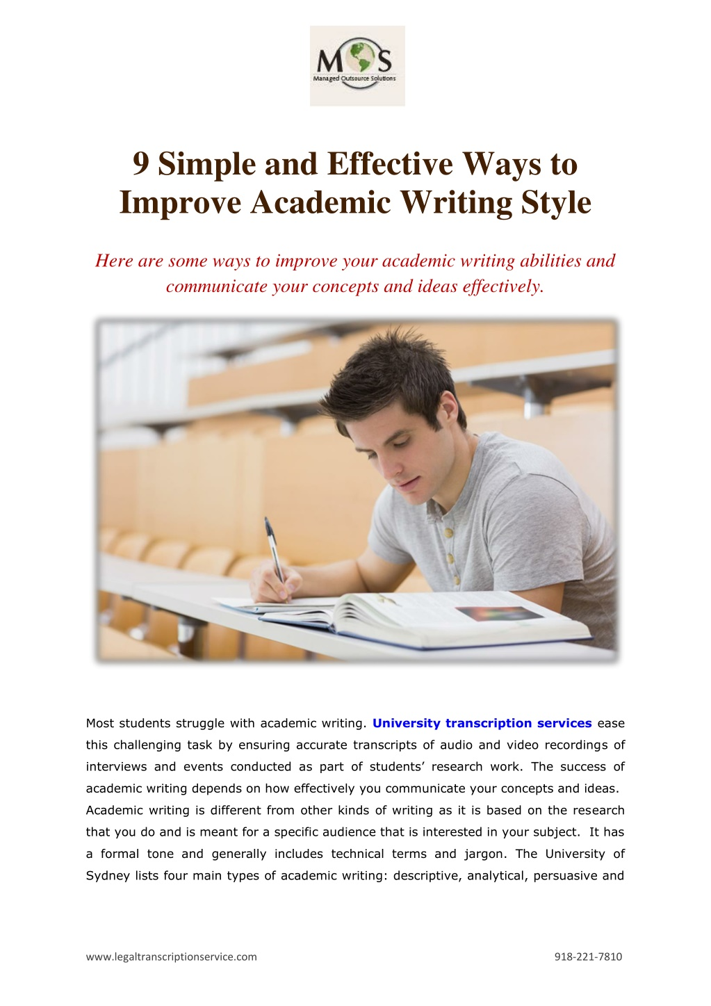 9 simple and effective ways to improve academic l.