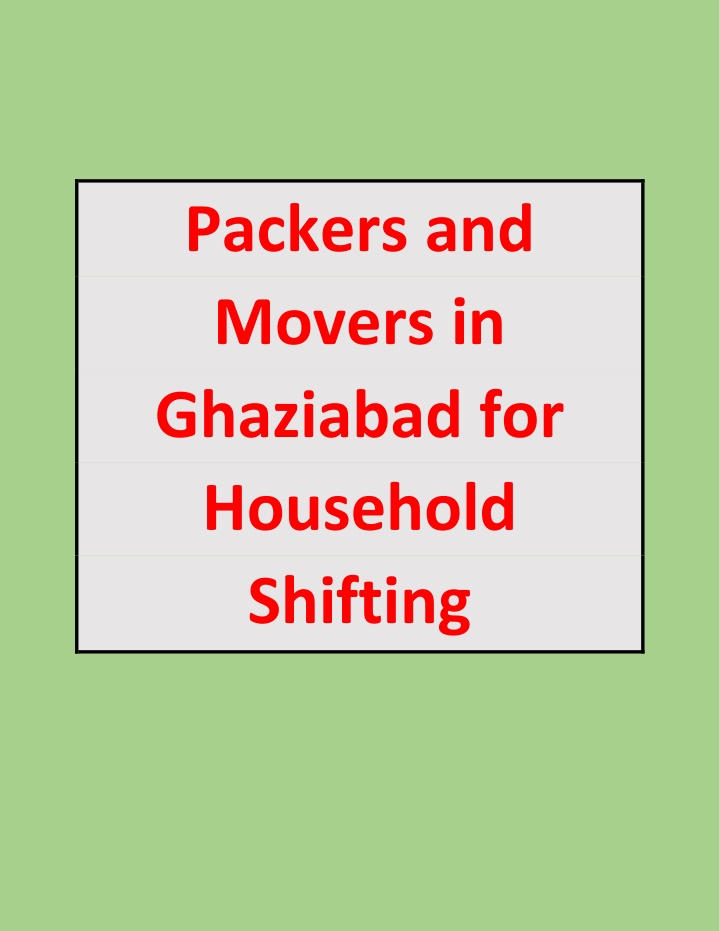 packers and movers in ghaziabad for household n.