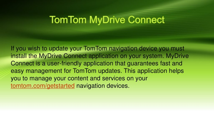tomtom mydrive connect n.