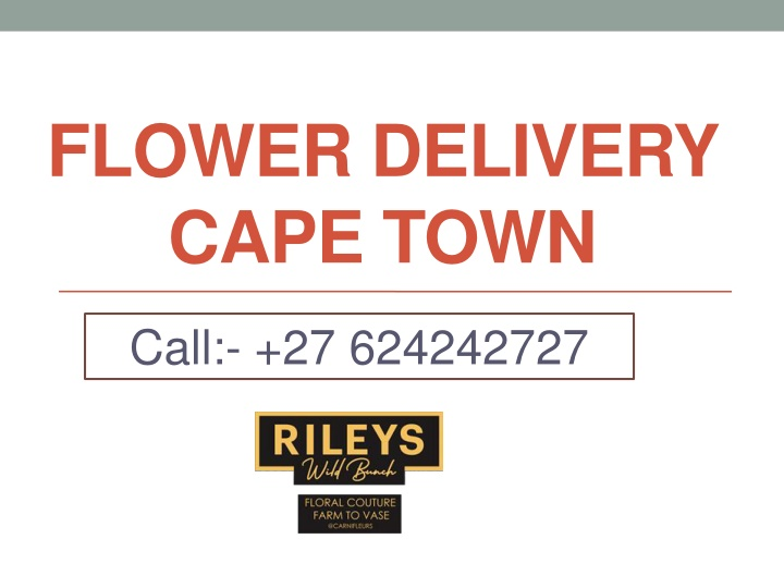 flower delivery cape town n.