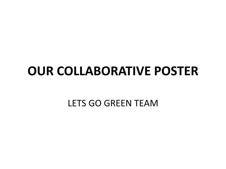 our collaborative poster n.