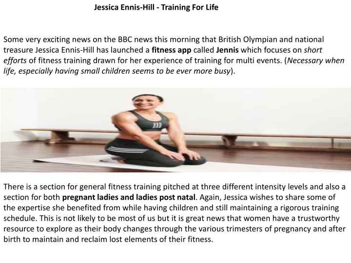 jessica ennis hill training for life n.