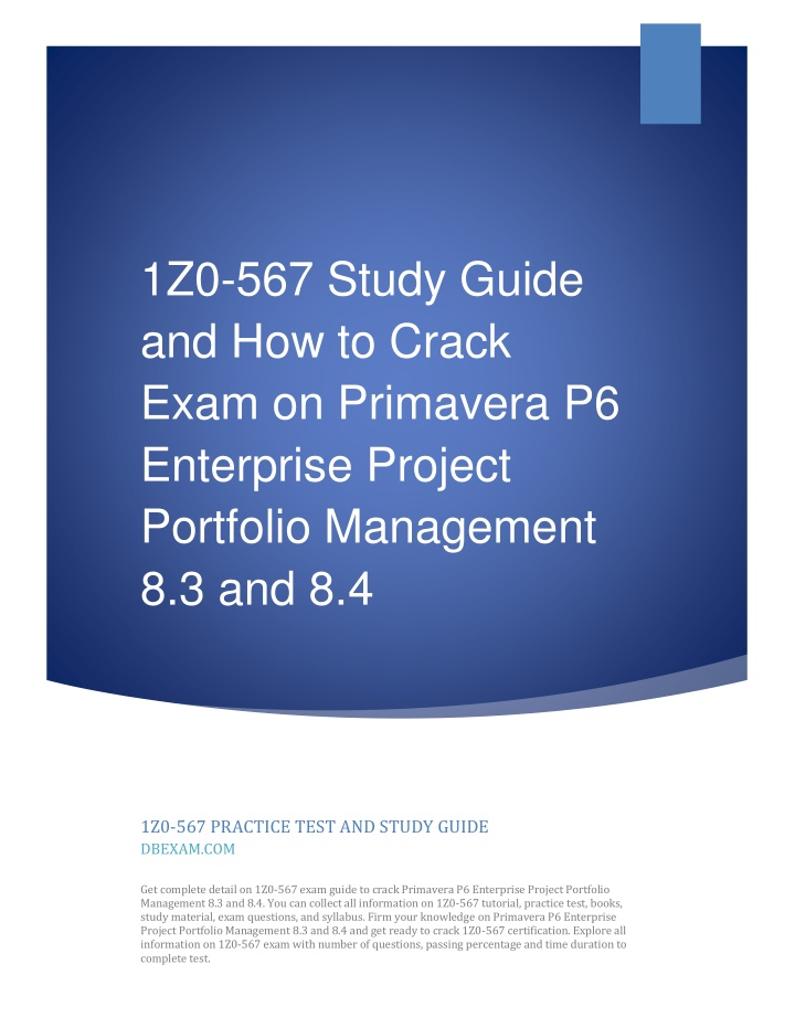 1z0 567 study guide and how to crack exam n.