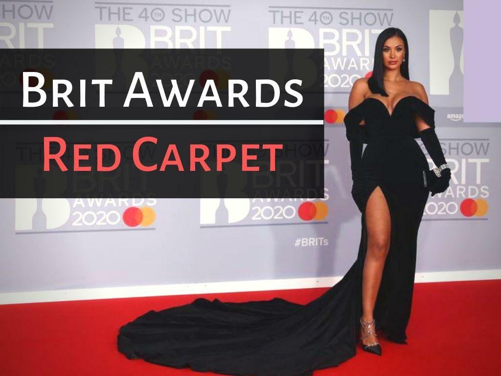 brit awards red carpet l.