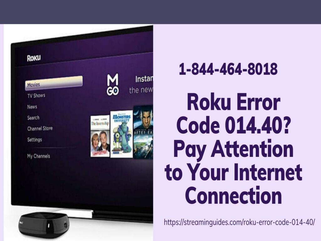 Error Code 014 on Roku | Roku Error Code 014.40 Fix Now –Call Anytime