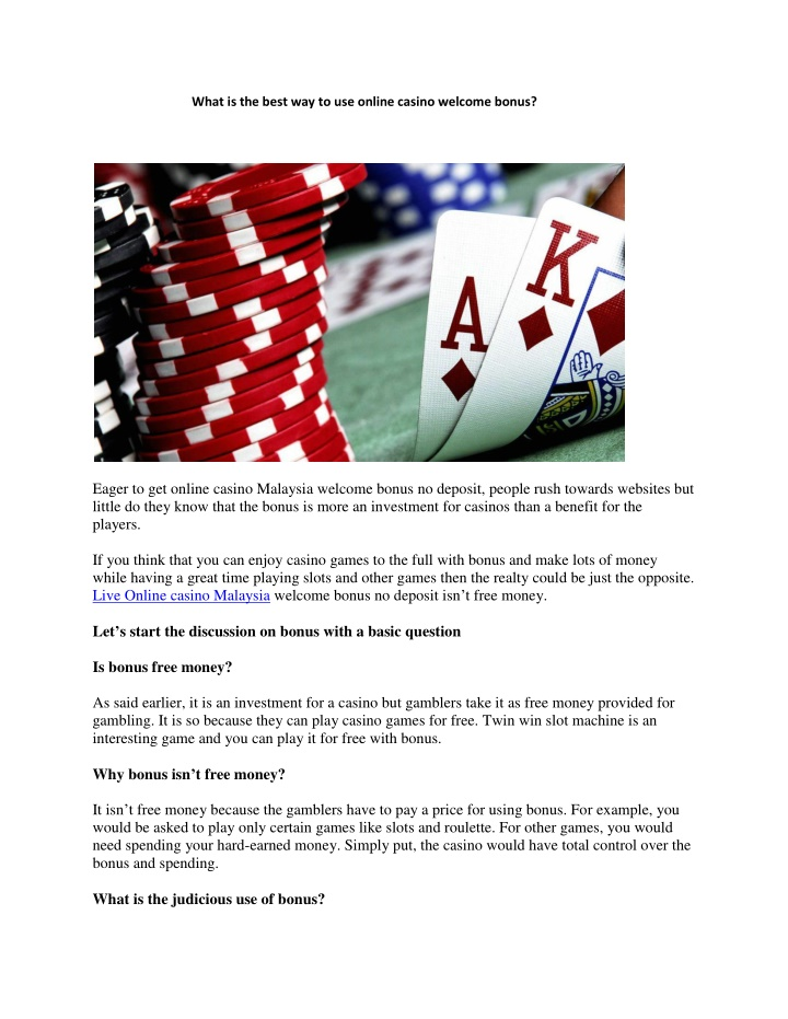 what is the best way to use online casino welcome n.