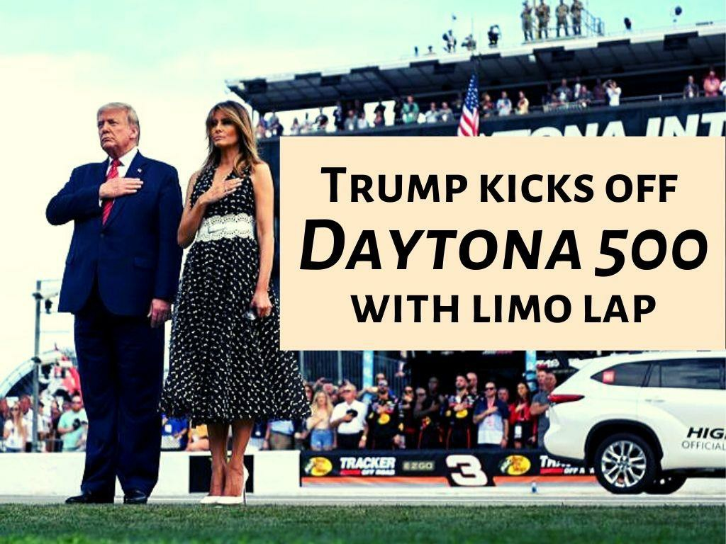 trump kicks off daytona 500 with limo lap l.