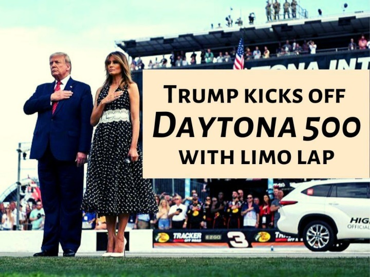 trump kicks off daytona 500 with limo lap n.