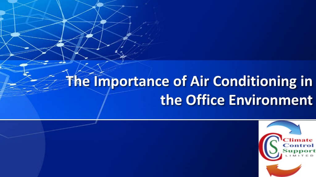 the importance of air conditioning in the office environment l.