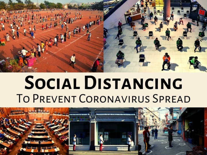 Social distancing to prevent coronavirus spread