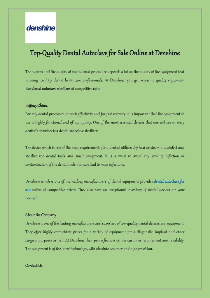 top top quality dental autoclave for sale online n.