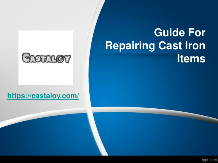 guide for repairing cast iron items n.