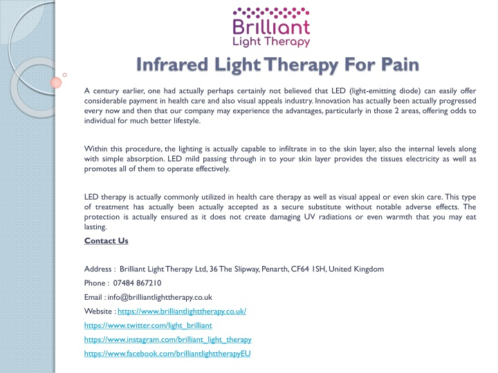 infrared light therapy for pain n.