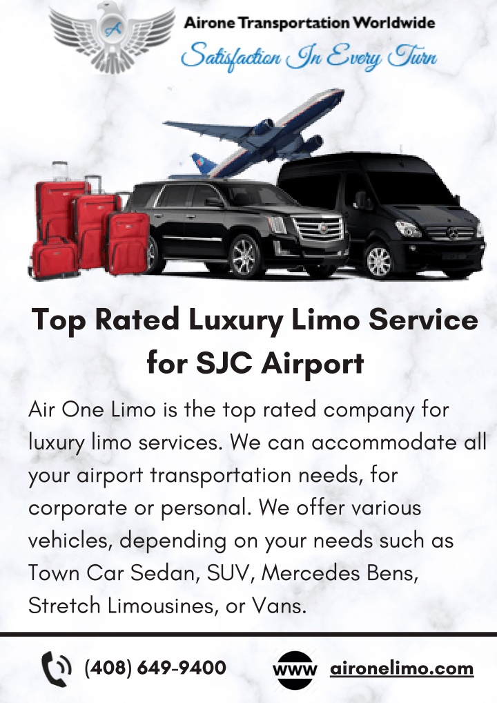 top rated luxury limo service for sjc airport n.