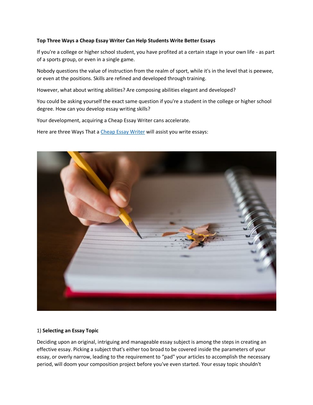 Top school cheap essay topics an example of a summary essay