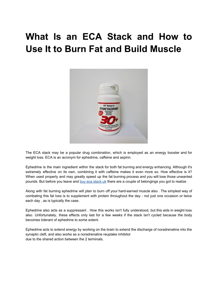 what is an eca stack and how to use it to burn n.