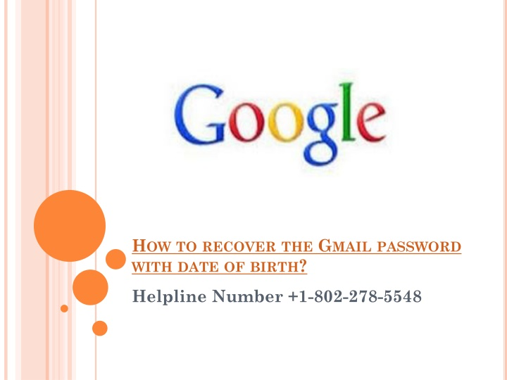 how to recover the gmail password with date of birth n.