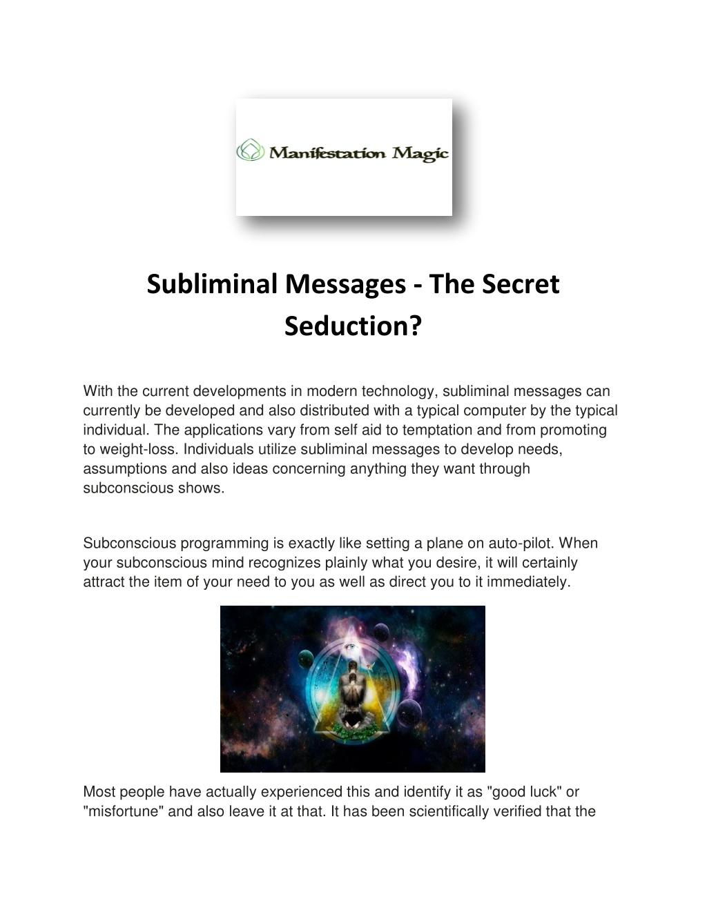 subliminal messages the secret seduction l.
