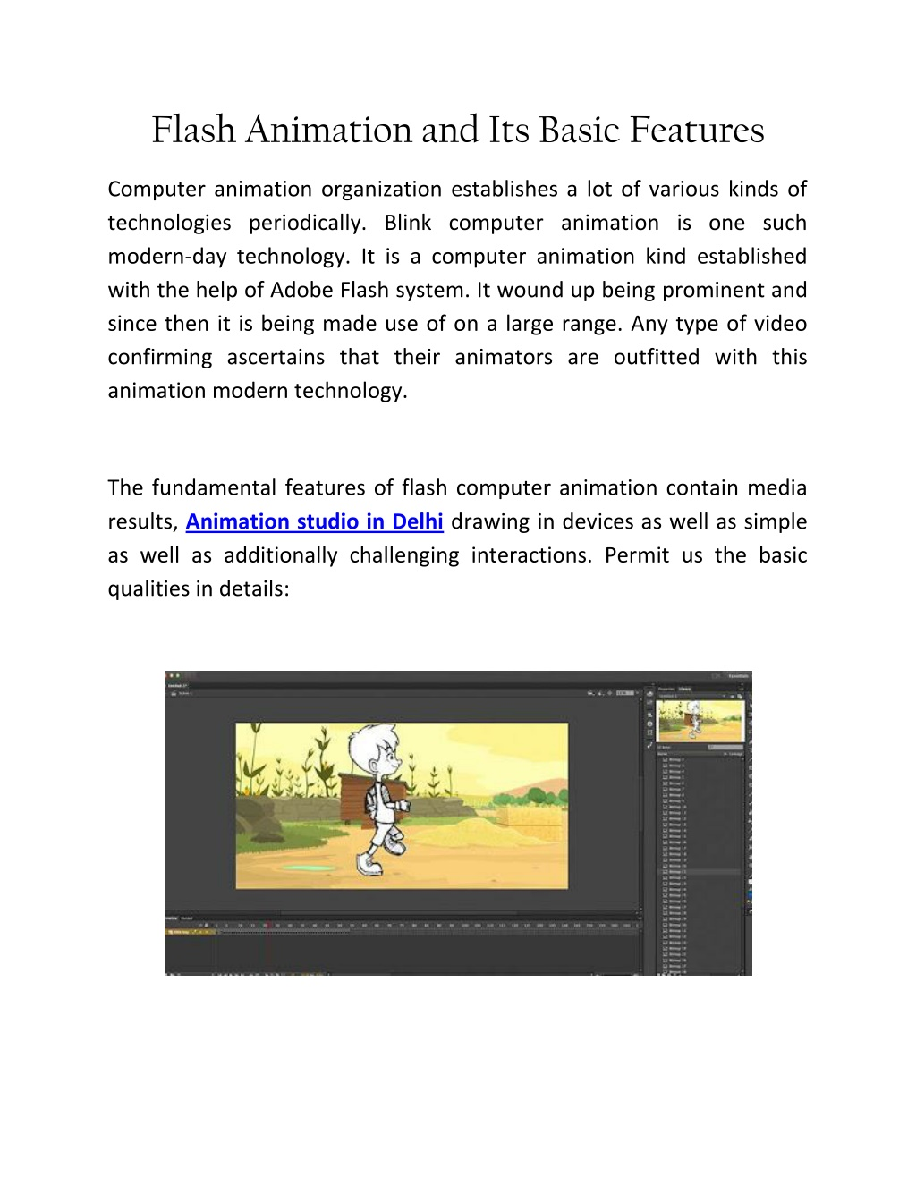 flash animation and its basic features l.