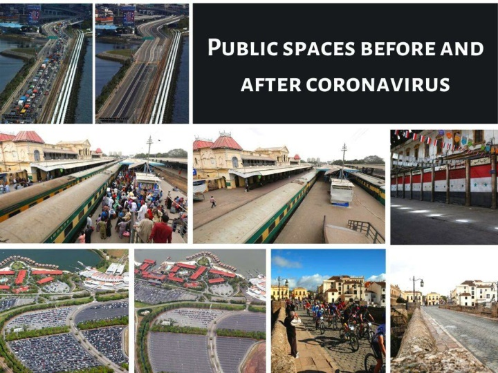 public spaces before and after coronavirus n.