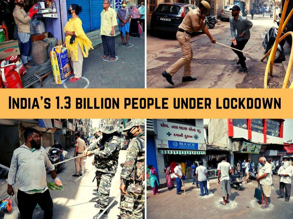 india s 1 3 billion people under lockdown l.