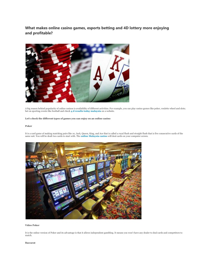 what makes online casino games esports betting n.