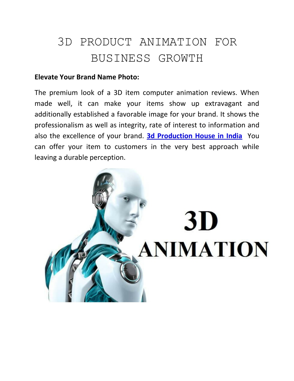 3d product animation for business growth l.