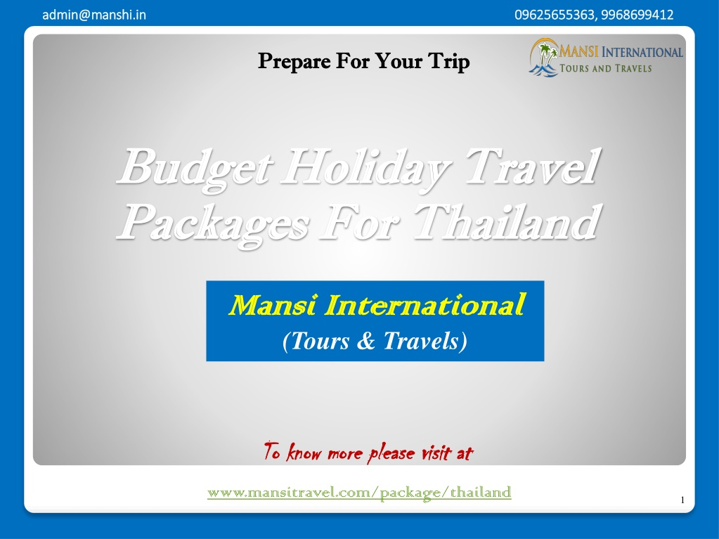 budget holiday travel packages for thailand l.