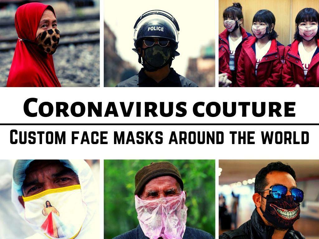coronavirus couture custom face masks around the world l.